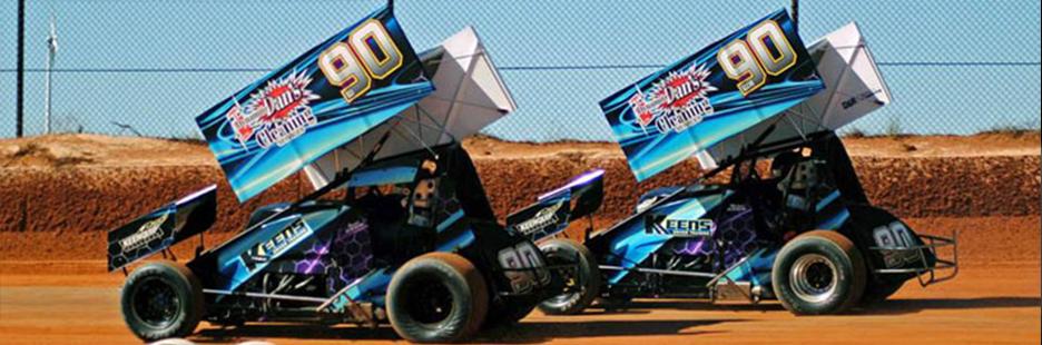 Keen boys Sprintcars x2  #90